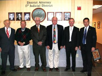 Left to right: Marvin Dansky, Paul Q Beacom, James F Smith, Robert S Grant, Donald S Quick, David Young.