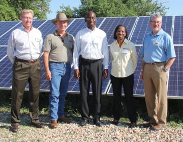 Left to Right:  Ronald Asche and Jerry Marizza (United Power); Everod and Claudia Samuel; Troy W\hitmore (United Power)