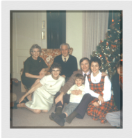 My family at Christmas (I'm taking the picture); circa 1973