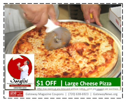 Serafini Pizza Coupon -Cheese