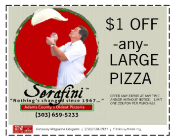 $1 off on Large PIzzas