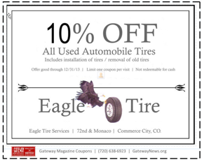 Get 10% Discount on Used Tires